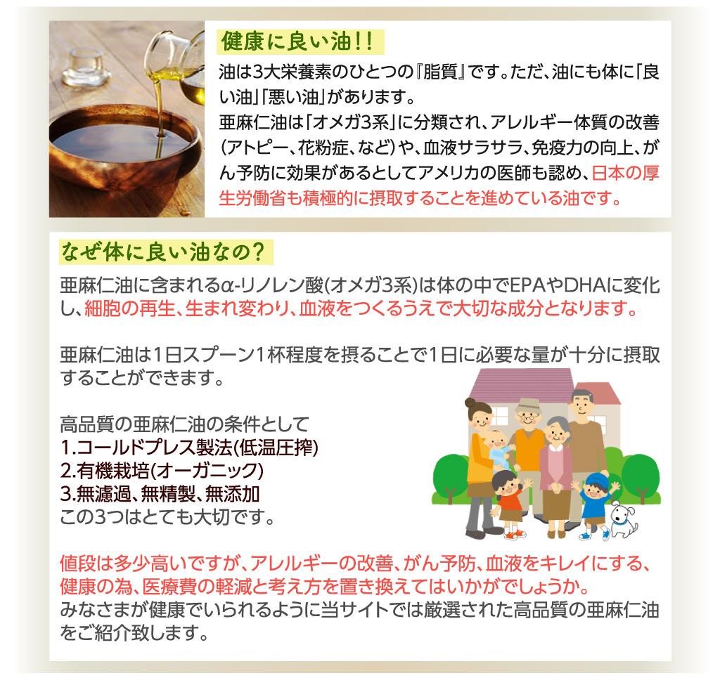の 亜麻仁 効果 油